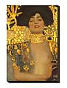 Judith I., 1901 av Gustav Klimt Famous Sträckt Canvastryck