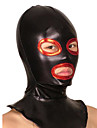 Masque Ninja Costume Zentai Costumes de Cosplay Rouge / Noir Mosaique Masque Couleur metalique brillante Unisexe Halloween / Noel