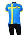 KOOPLUS® Cykeltröja med shorts Herr Halv ärm Cykel Andningsfunktion / Vattentät dragkedja / Dragkedja fram / BärbarCykeltröja + shorts /