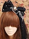 Smycken Gothic Lolita Huvudbonad Prinsessa / Victoriansk Svart lolita tillbehör Huvudbonad Rosett För Herr / Dam Bomull / Organza