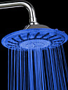 8 Inch Contemporary A Grade ABS Color Changing LED  Rain Shower head