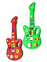 Elektrisk Mini Musikalisk gitarr med 12 låtar (Powered by 2AA, blandade färger)