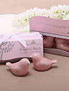 """Kissing Birds"" Ceramic Salt & Pepper Shakers Wedding Favor"
