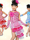 Performance Dancewear Spandex With Sequins Latin Dance Dress For Children(More Colors)