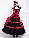 Une Piece/Robes Gothique Victorien Cosplay Vetrements Lolita Mosaique Sans manche Long Robe Pour Coton