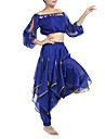 Belly Dance Outfits Women\'s Chiffon Beading / Coins / Sequins Black / Blue / Fuchsia / Pink / Purple / Red / Royal Blue / White / Yellow