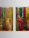 Peint a la main Abstrait Deux Panneaux Toile Peinture a l\'huile Hang-peint For Decoration d\'interieur