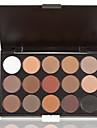 multi-funktion 15 färger skuggning pulver makeup paletten