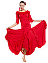 Performance Dancewear Viscose With Ruffles Modern Dance Outfits For Ladies(More Colors)