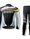 SPAKCT Ultra-Thin Polyester & Polyamid Cykling Långärmat Suits (Toppar + Pants)