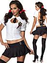 Cosplay Kostymer/Dräkter Uniformer Festival/Högtid Halloween Kostymer Vit / svart Lappverk Skjorta / Kjol Halloween / Karnival / Nyår
