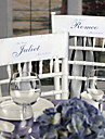 Wedding Décor Personalized Taffeta Chair Sashes(set of 2)-(More Colors)