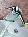 Centerset Single Handle One Hole in Chrome Bathroom Sink Faucet