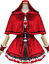 Costumes de Cosplay / Costume de Soiree Conte de Fee Fete / Celebration Deguisement Halloween Rouge Couleur Pleine / MosaiqueRobe /