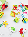 Wooden Animal Head Paper Clips(12 PCS)