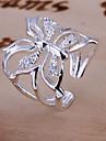 Inele Nuntă Zilnic Bijuterii Cristal Dame Inel de logodna 1 buc,Ajustabil Argint