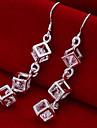 Cercei Picătură Aliaj Cross Shape Argintiu Bijuterii Pentru Zilnic