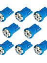 8x T10 194 168 501 4-SMD 3528 LED-uri auto Bec albastru