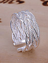 Verighete manşetă Ring Ajustabile Deschis La modă European Aliaj Bijuterii Argintiu Bijuterii Pentru Petrecere Zilnic Casual 1 buc