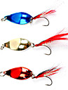 Metal Nait 5G Fishing Lure with Red Feather (Random Color)