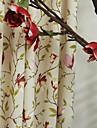 twopages® (deux panneaux) pays fleurs sur la tige impression rideau eco friendly