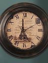"""13.5 """"H Retro francaise Metal Horloge murale"""
