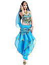 Belly Dance Outfits Women\'s Performance Chiffon Beading / Coins / Sequins 4 PiecesBlack / Blue / Fuchsia / Orange / Pink / Purple / Red /