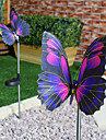 Changement de couleur Set de 2 solaires fibre optique papillon pieu Lumieres