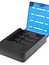 Soshine 4-Slot Li-ion batteri Smart Charger w / 2-P Plug Adapter / billaddare (för EU)
