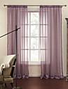 två paneler lila rand jacquard rena gardiner draperier
