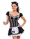 Cosplay Kostymer/Dräkter Uniformer Festival/Högtid Halloween Kostymer Vit / svart Klänning / Huvudbonad Halloween / KarnivalSatäng /