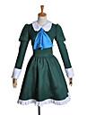 Inspirerad av Cosplay Mary Video Spel Cosplay Kostymer/Dräkter cosplay Suits / Klänningar Lappverk Grön Lång ärm Klänning