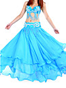 Belly Dance Skirts Women\'s Training Chiffon Blue / Green / Yellow Belly Dance / Ballroom Spring, Fall, Winter, Summer Natural