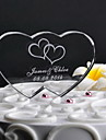 Cake Toppers Personalized Double Heart  Cake Topper (More Designs)