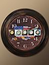 """17 """"H drapeau americain style metal Horloge murale"""