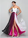 Formal Evening / Military Ball Dress - Furcal Plus Size / Petite A-line / Princess Sweetheart Floor-length Chiffon withSplit Front /