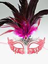 Mascara Festival/Celebracion Traje de Halloween Purpura / Rosado Mascara Halloween / Carnaval Mujer Pluma / PVC