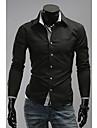 Loisirs Mode New manches longues encolure de DJJM hommes minuscule Modifier shirt (ecran couleur)