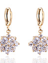 Boucles d\'oreilles en or 18 carats Zircon de Bin Bin femmes (ER0467)