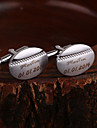 Gift Groomsman Personalized Oval Cufflinks