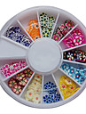 120PCS Blandad Mönster Colorful Flower Fimo Slice Animal Nail Art Decoration