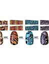 1x10PCS dierenhuid Tiger & Snake Sery Full-Cover Nail Stickers (verschillende patronen)