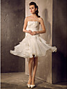Lanting Bride® A-line / Princess Petite / Plus Sizes Wedding Dress - Classic & Timeless / Reception Spring 2014 Knee-length Strapless