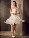 Abito da sposa - Avorio Trapezio/Stile Principessa Senza bretelline Al ginocchio Organza Taglie forti