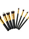 Pro di alta qualita 8 PC di capelli sintetica Golden Makeup Brush Set