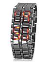 Laava tyylinen tauluton puna-LED miesten metallinen digitaalirannekello
