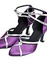 Chaussures de danse(Violet) -Non Personnalisables-Talon Personnalise-Satin-Moderne Salon