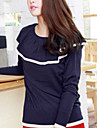 Folli coreenne Casual RuffleSplicing Knit shirt