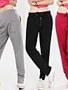 talie elastic pantaloni de trening de bumbac pentru femei