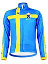 KOOPLUS® Cykeljacka Herr Lång ärm Cykel Andningsfunktion Håller värmen Fleecefoder Fuktgenomtränglighet Bärbar Tröja ÖverdelarPolyester